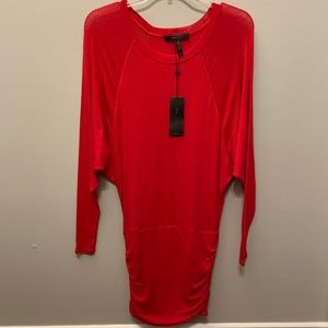 NEVER WORN BCBGMaxAzria Long Sleeve Red Dress